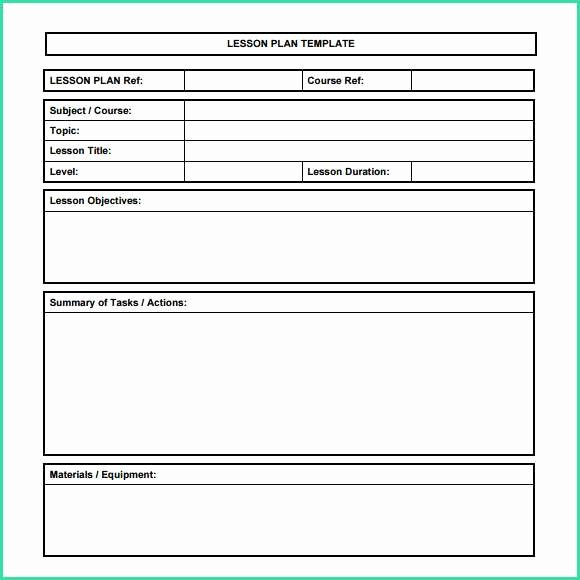 Lesson Plans for Ms Word Best Of 66 Blank Lesson Plan Template Microsoft Word