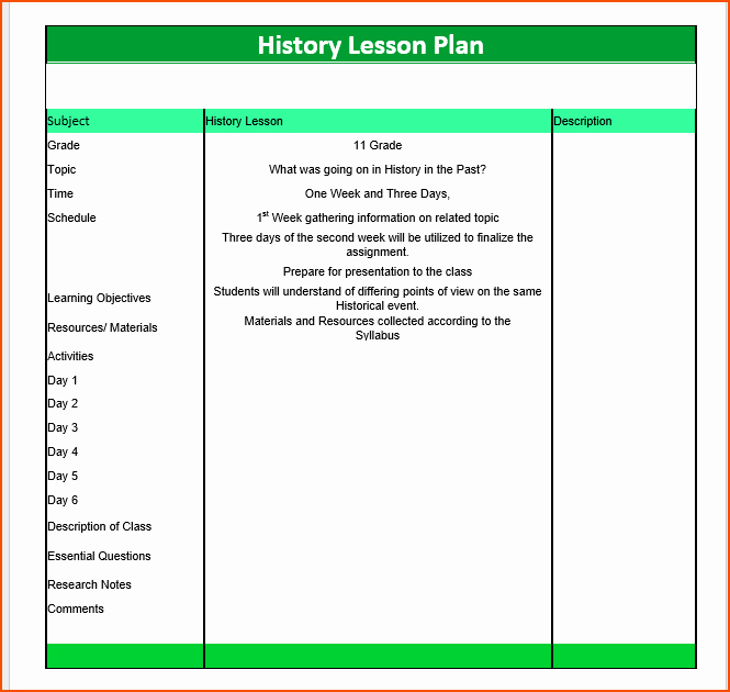 Lesson Plans for Ms Word Best Of 7 Lesson Plan Template Word Bookletemplate