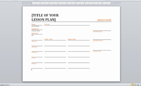 Lesson Plans for Ms Word Elegant Daily Lesson Planner Template for Word