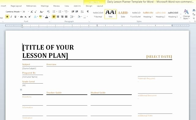 Lesson Plans for Ms Word Unique Microsoft Word Powerpoint Template – Sabotageincfo