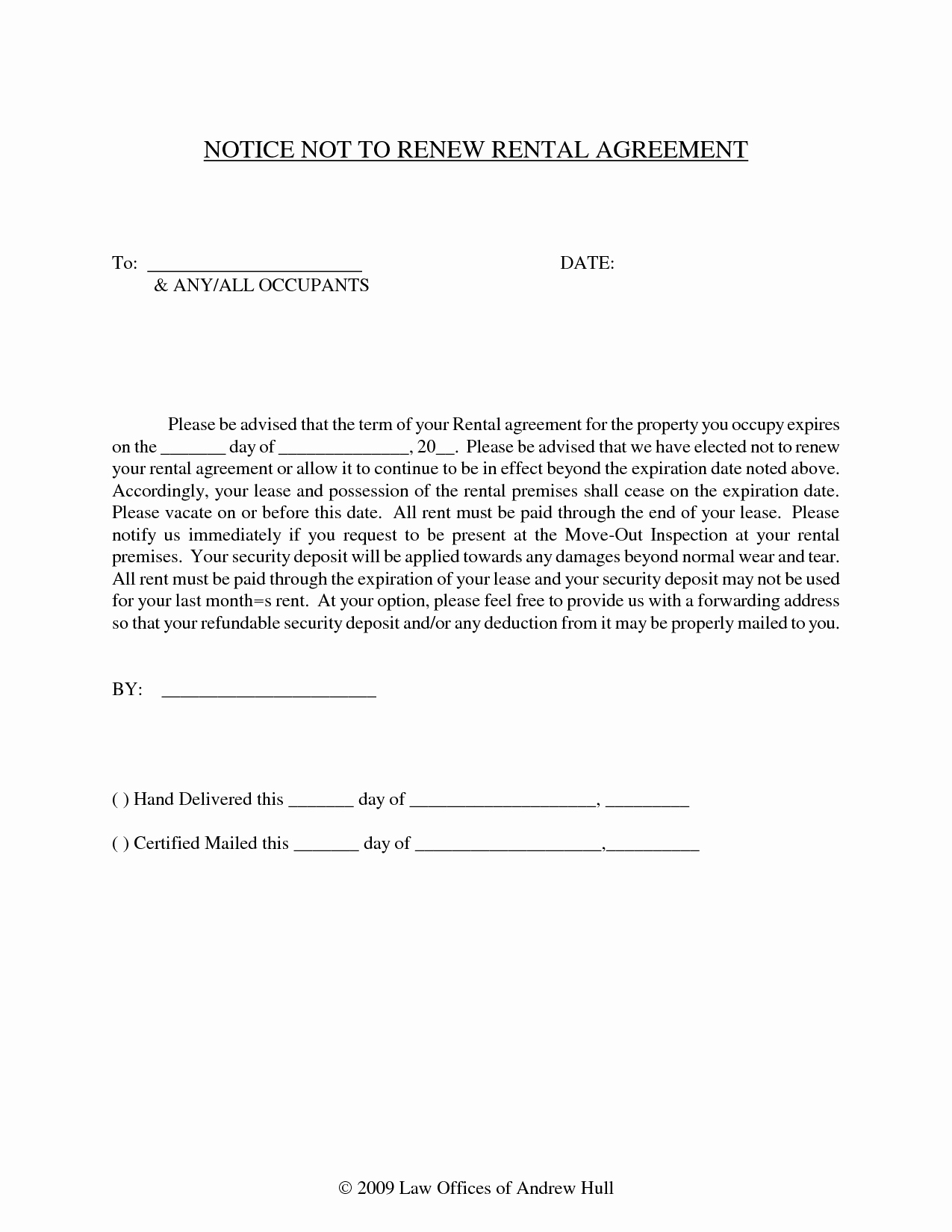 Letter for Not Renewing Lease Best Of 13 Best Of Lease Expiration Notice Sample Lease