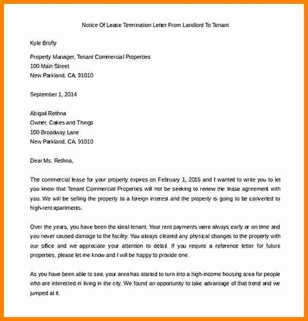 Letter for Not Renewing Lease New Tenant Not Renewing Lease Letter