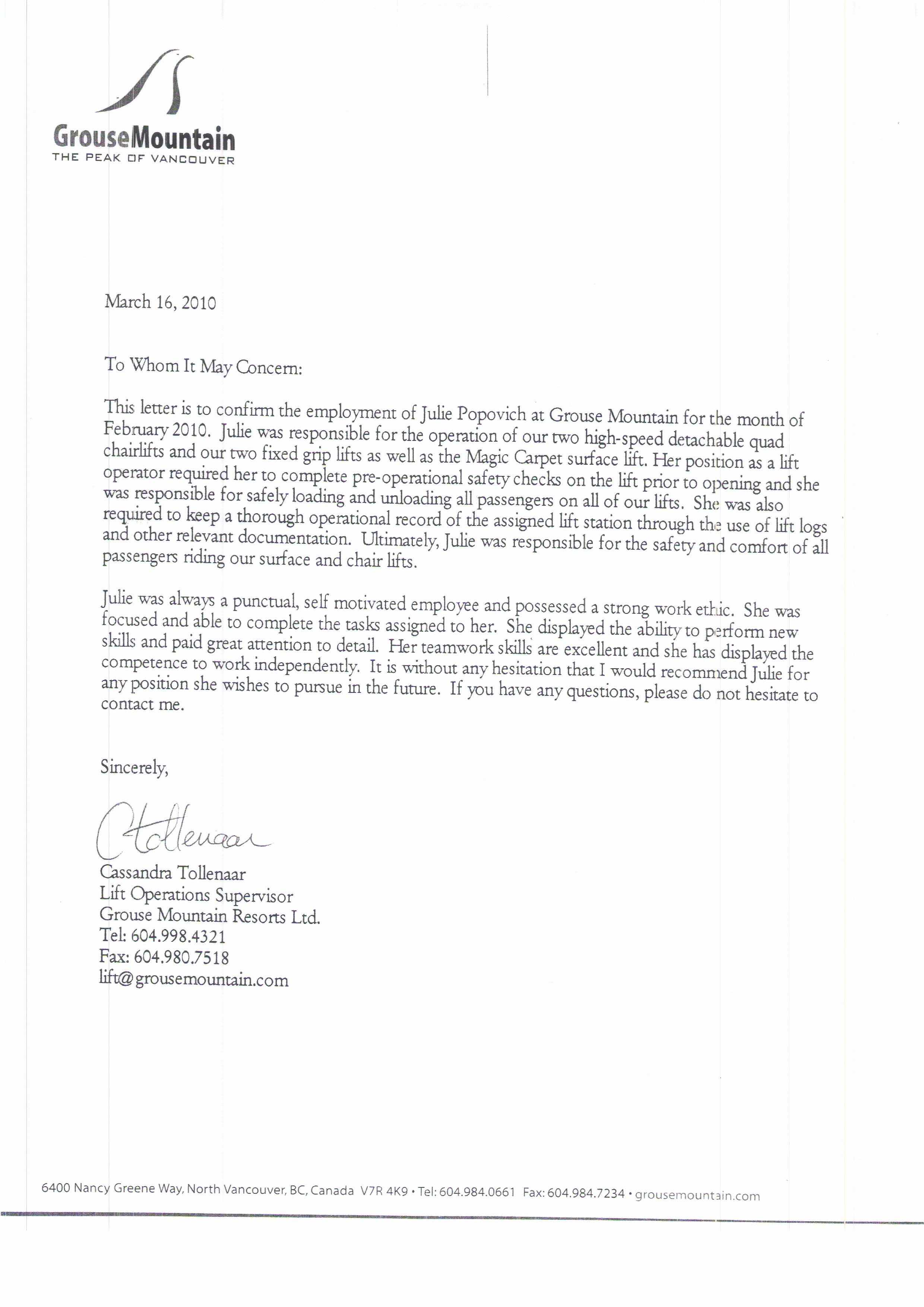 Letter Of Recomendation for Employment Awesome Best S Hr Reference Letter Employee Re Mendation