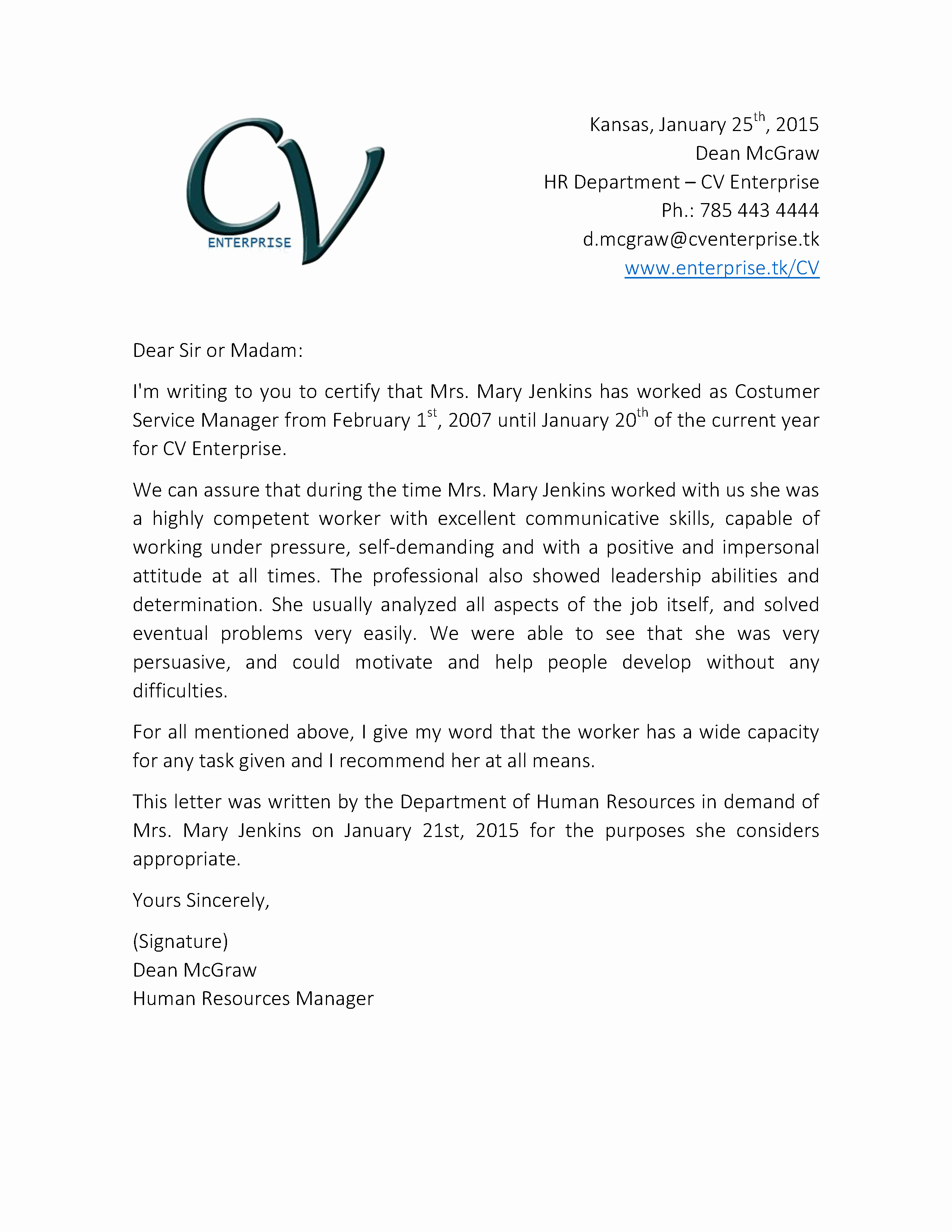 Letter Of Recomendation for Employment Fresh Re Mendation Letter Service – Templates Free Printable