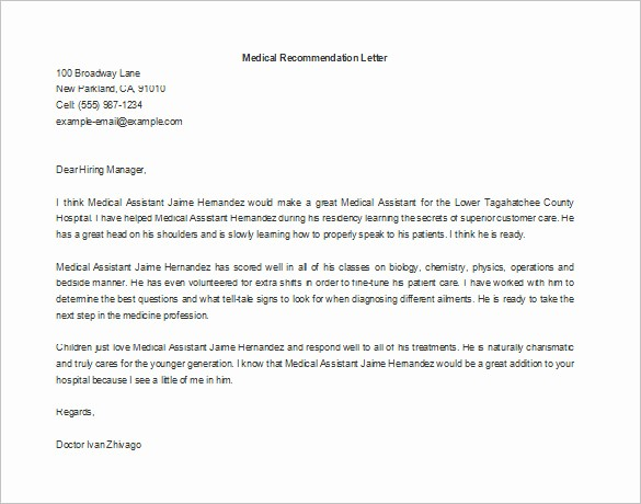 Letter Of Recomendation for Employment Luxury 11 Re Mendation Letters for Employment – Free Sample