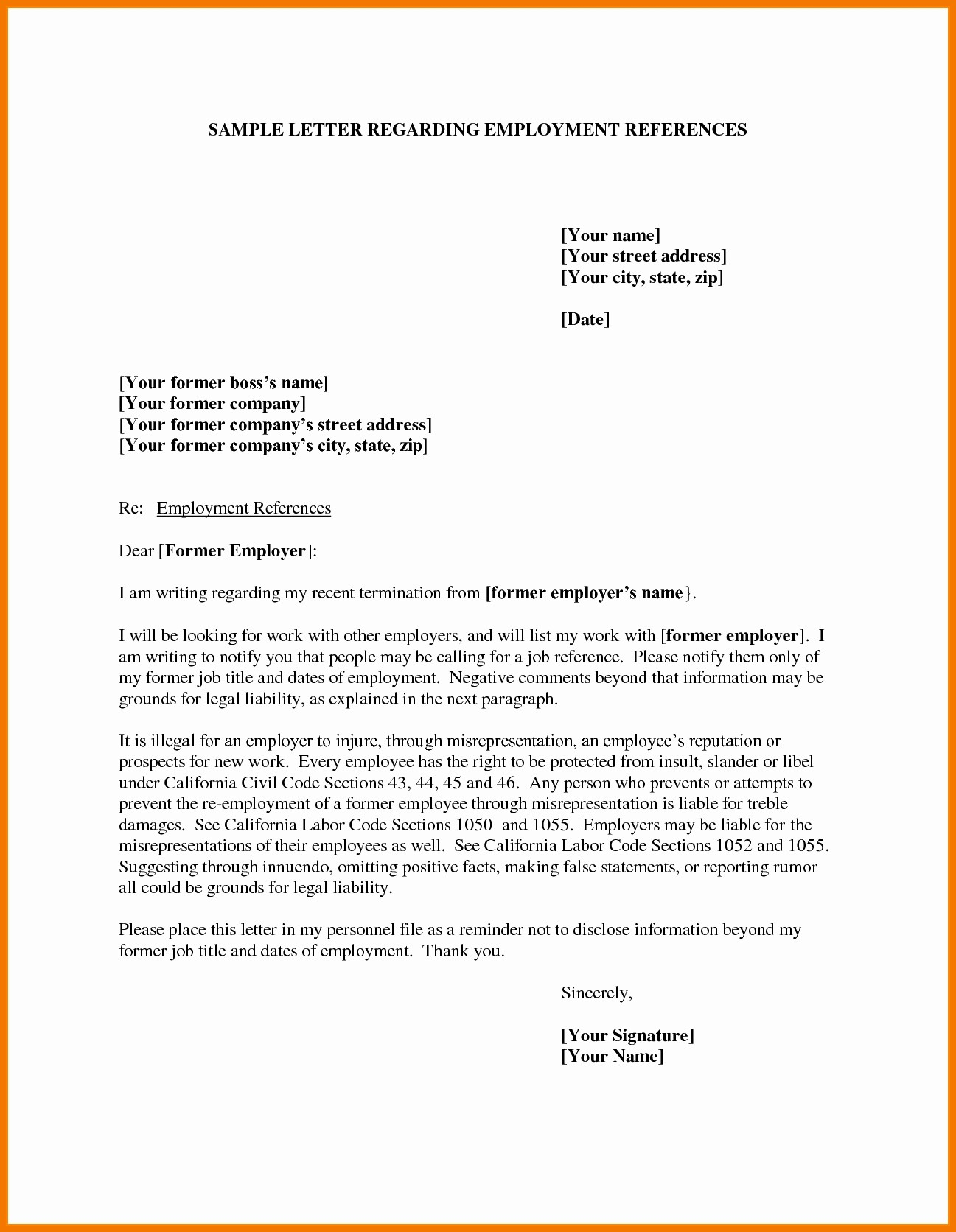 Letter Of Recommendation Employee Template Best Of Job Reference Template