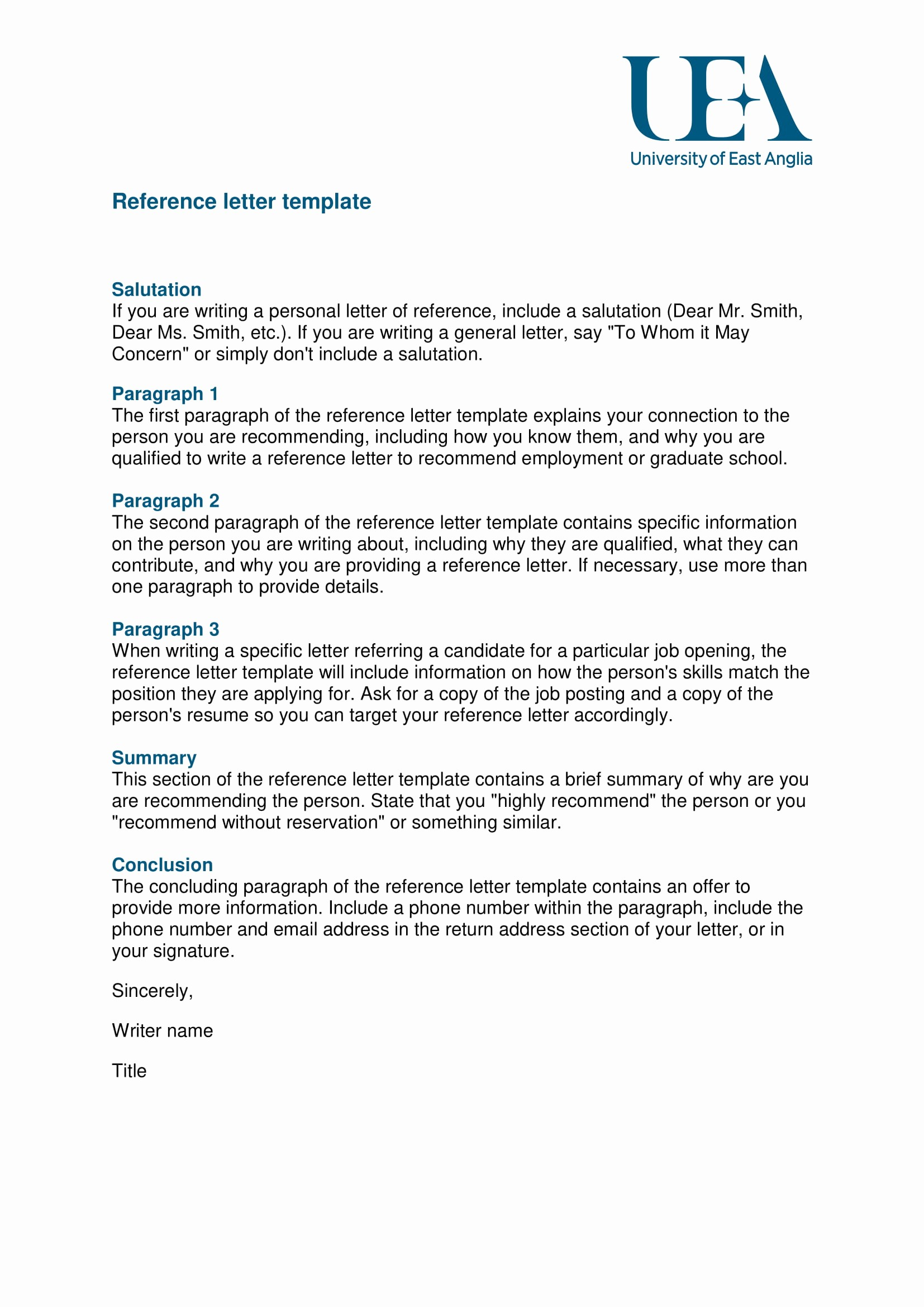 Letter Of Recommendation Employee Template Unique 9 Reference Letter From A Previous Employer Examples Pdf