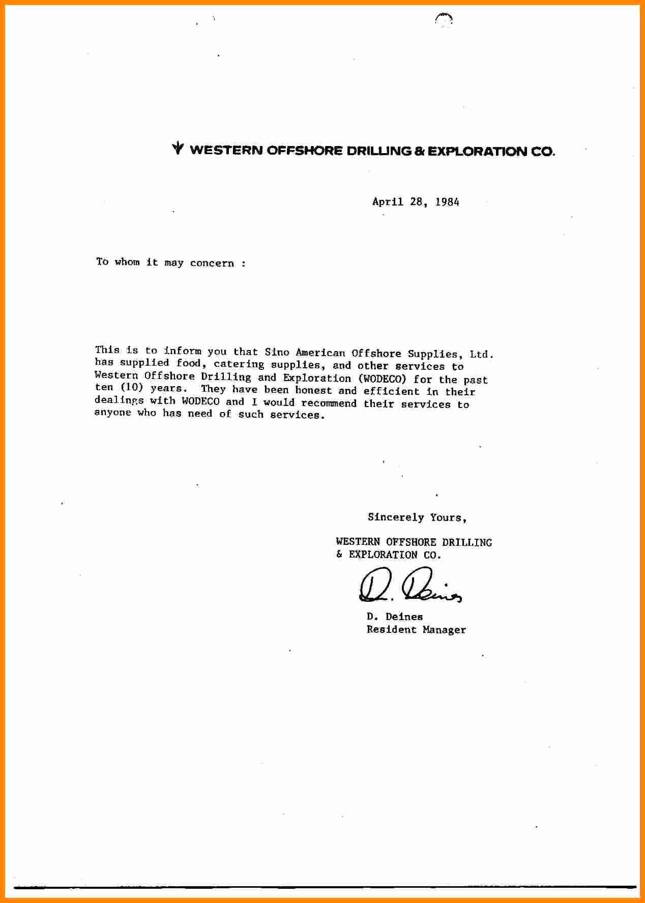 Letter Of Recommendation Employment Template Awesome 9 General Letter Of Re Mendation Samples
