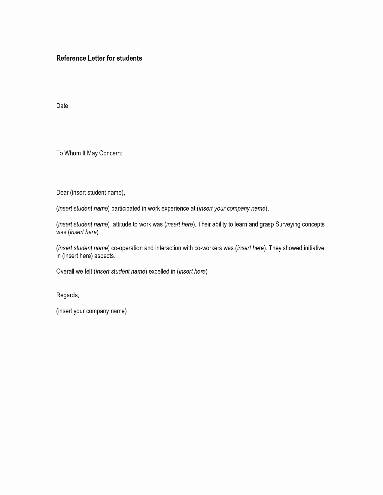 Letter Of Recommendation Employment Template Awesome Cover Letter Job Re Mendation Free References