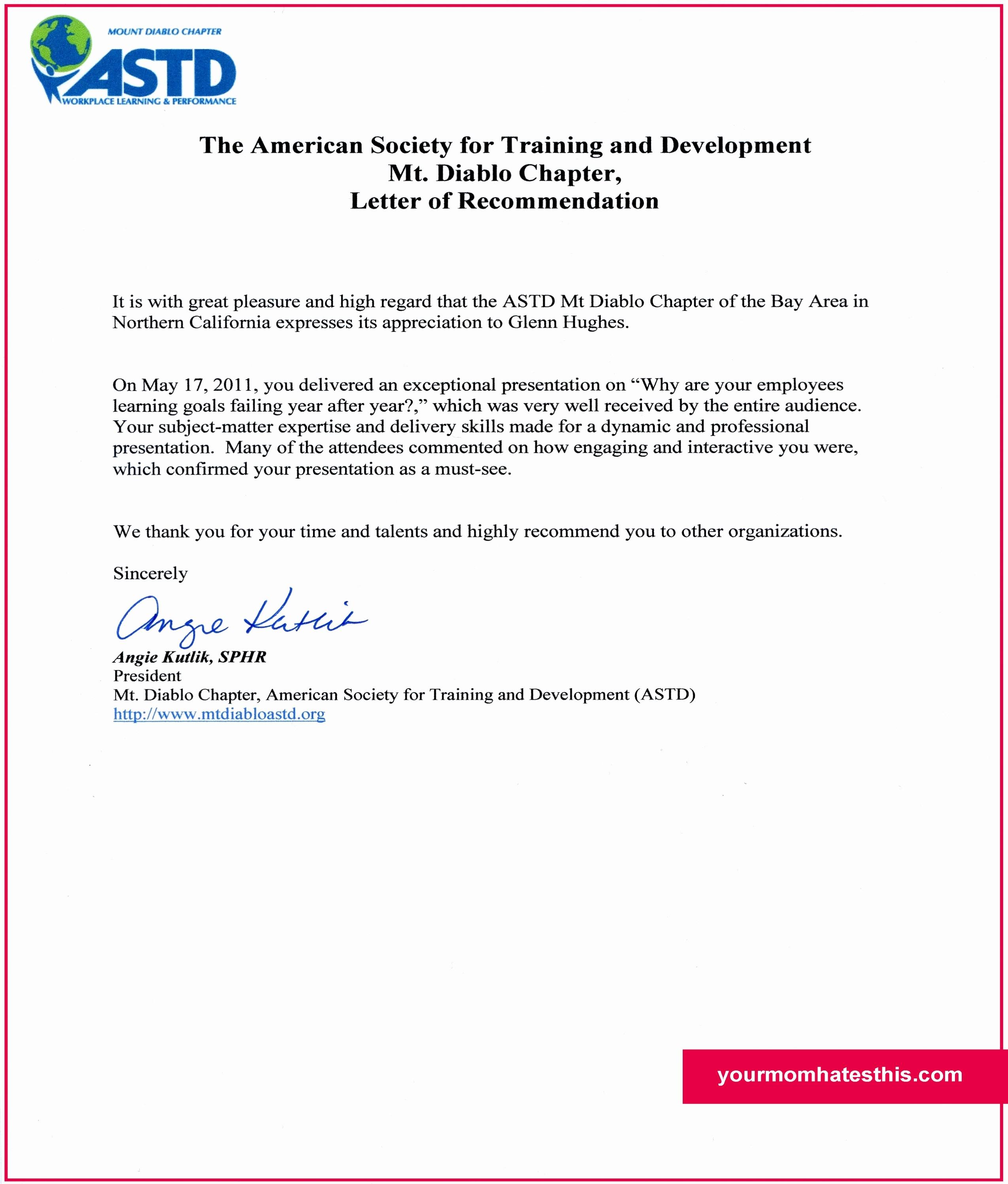 Letter Of Recommendation Employment Template Elegant Download Letter Of Re Mendation Samples