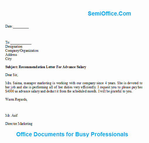 Letter Of Recommendation for Loan Best Of Free Printable Letter Salary form Generic