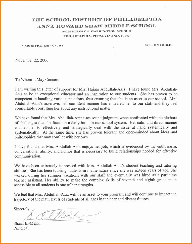 Letter Of Recommendation for Loan Elegant Re Mendation Letter for Student Applying to Graduate