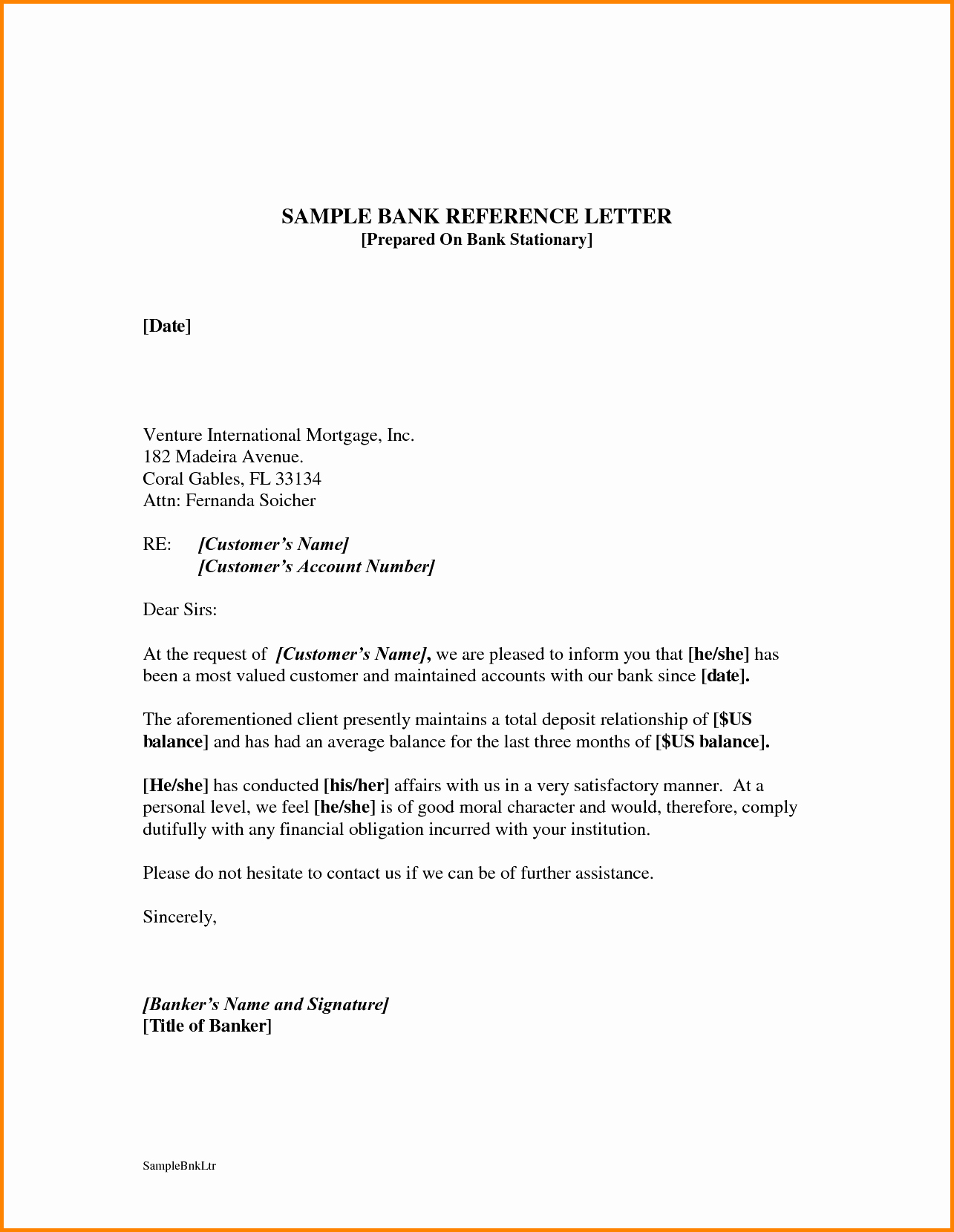 Letter Of Recommendation for Loan Lovely Bank Reference Letter Mughals