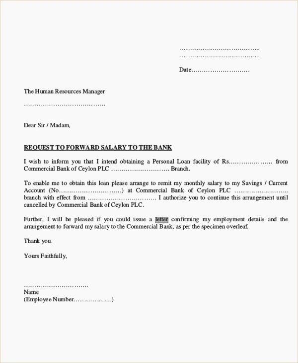 Letter Of Recommendation for Loan Lovely Loan Letter format