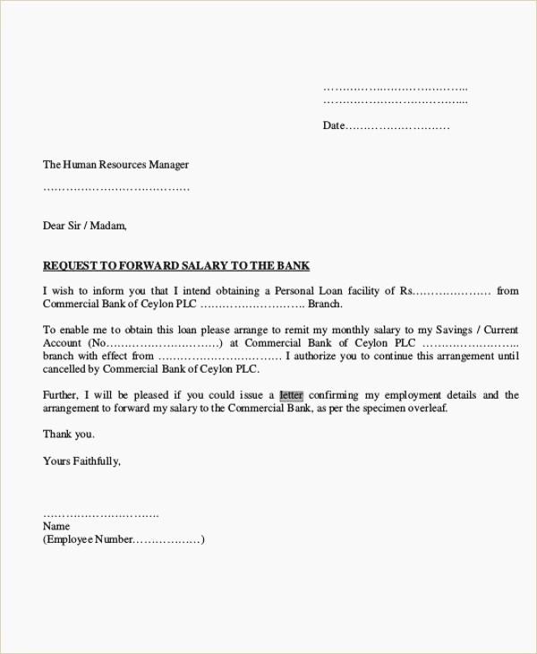 Letter Of Recommendation for Loan Lovely Loan Letter format