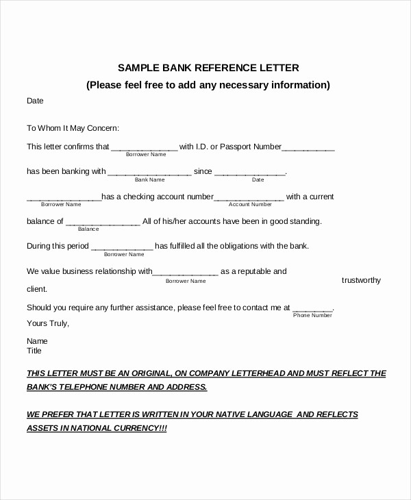 Letter Of Recommendation for Loan Unique Reference Letter Sample for Bank Loan