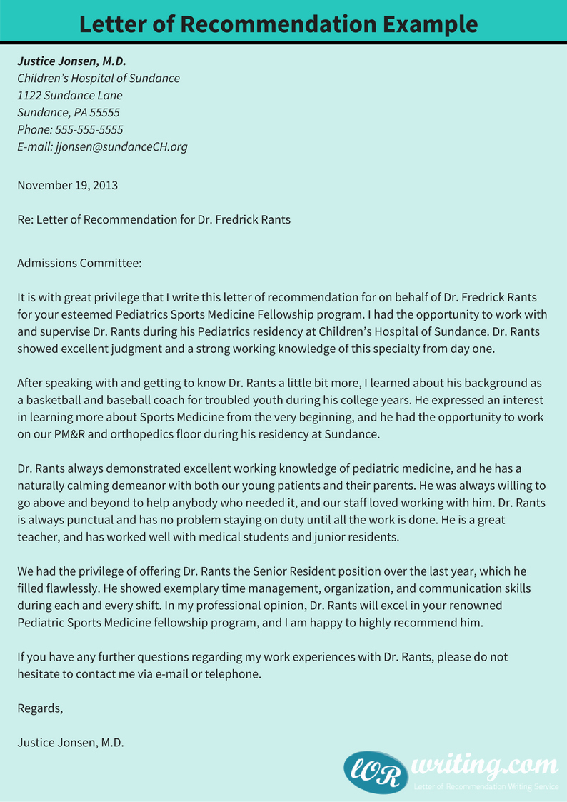 Letter Of Recommendation Letter Example Fresh Sample Letter Of Re Mendation for Pediatric Residency Tips