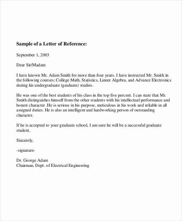Letter Of Recommendation Letter Example Luxury 7 Sample Employee Re Mendation Letters