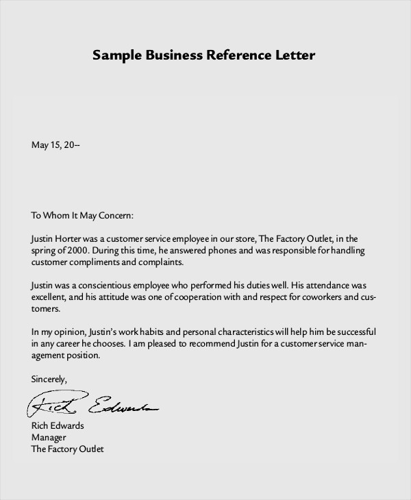 Letter Of Recommendation Letter Example Luxury 8 Reference Letter Samples Examples Templates
