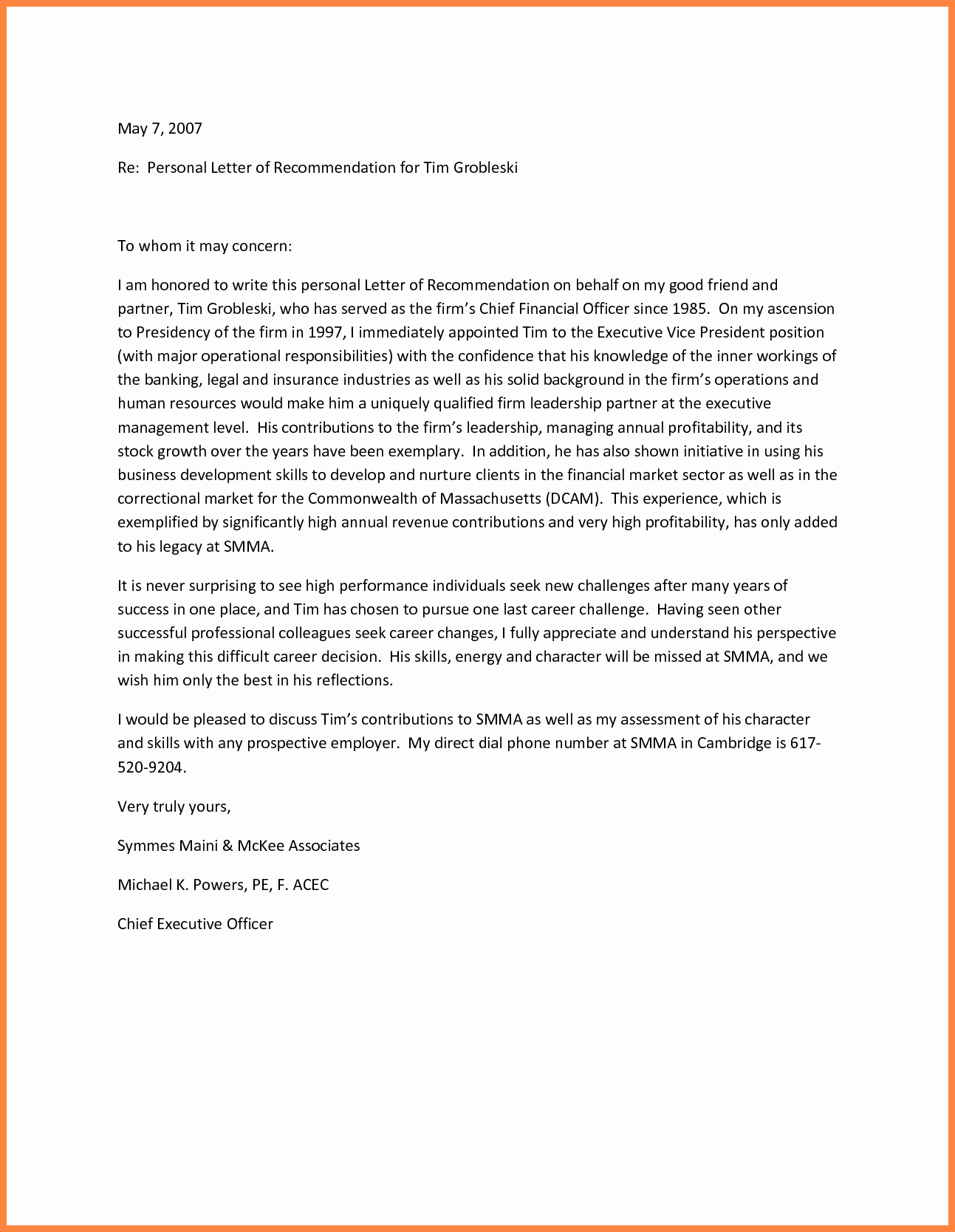 Letter Of Recommendation Letter Template Best Of Personal Re Mendation Letters Portablegasgrillweber