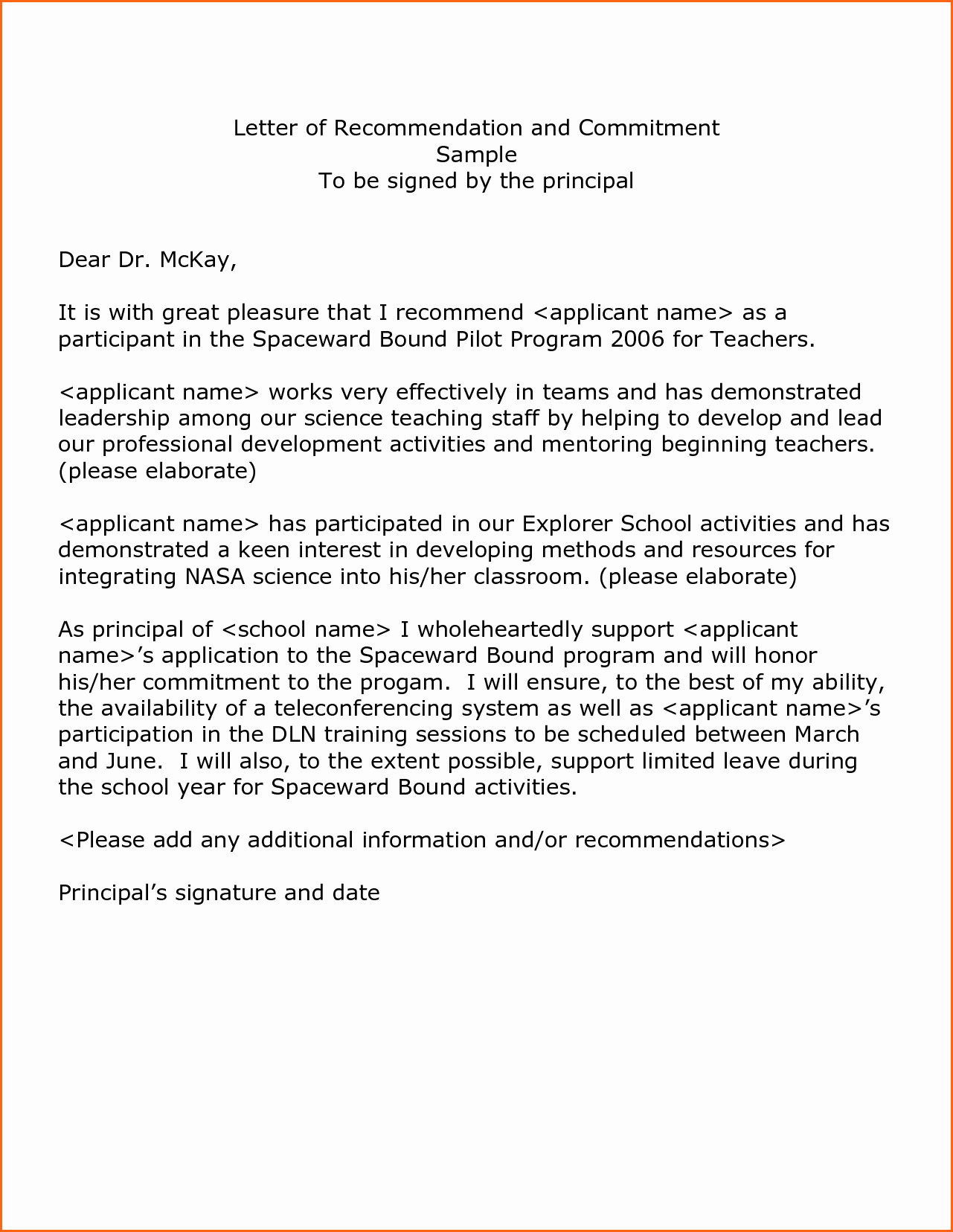 Letter Of Recommendation Letter Template Inspirational 8 Examples Letters Re Mendation Bud Template