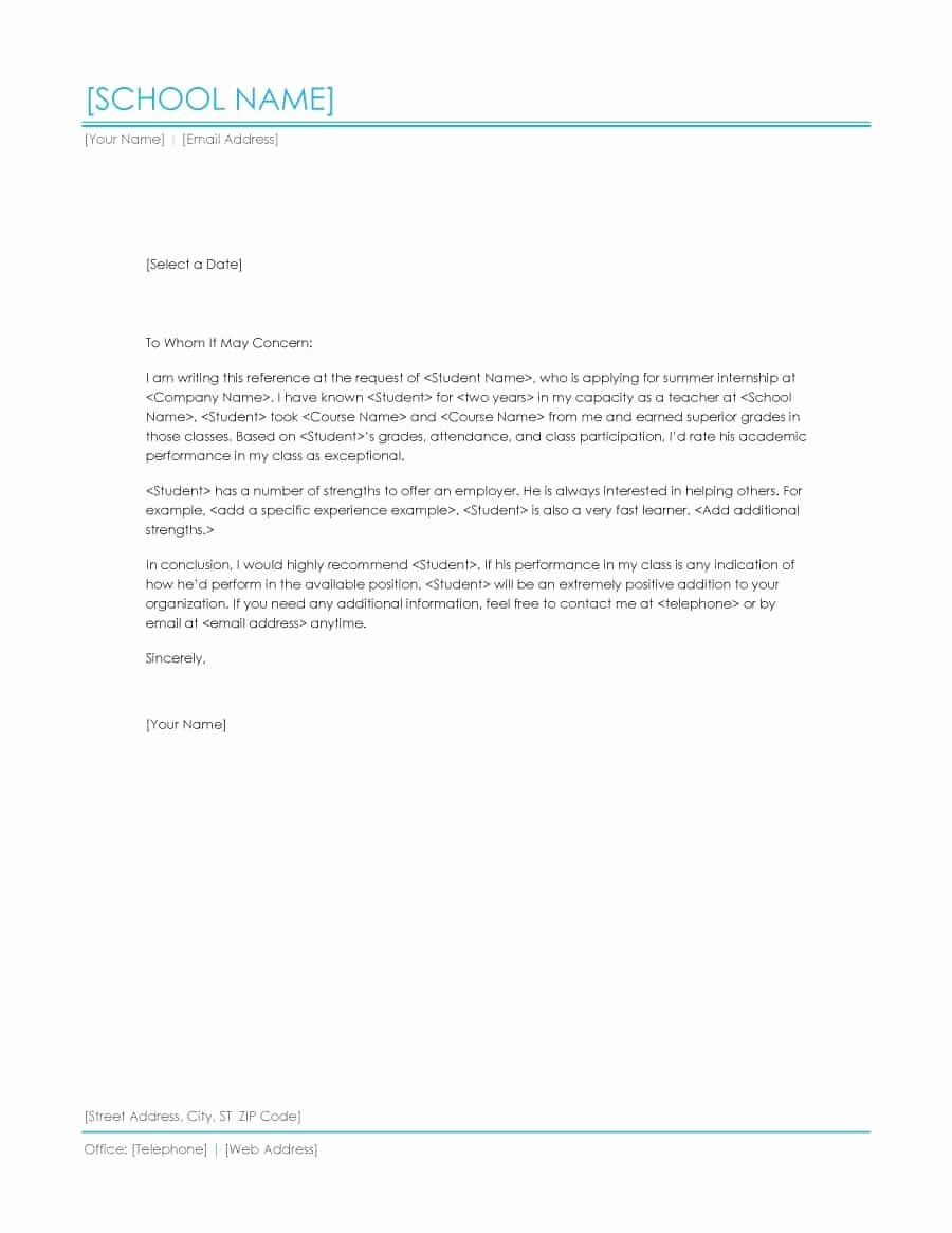 Letter Of Recommendation Letter Template Lovely 43 Free Letter Of Re Mendation Templates & Samples