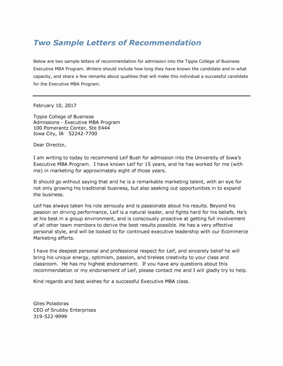 Letter Of Recommendation Letter Template Unique 43 Free Letter Of Re Mendation Templates & Samples