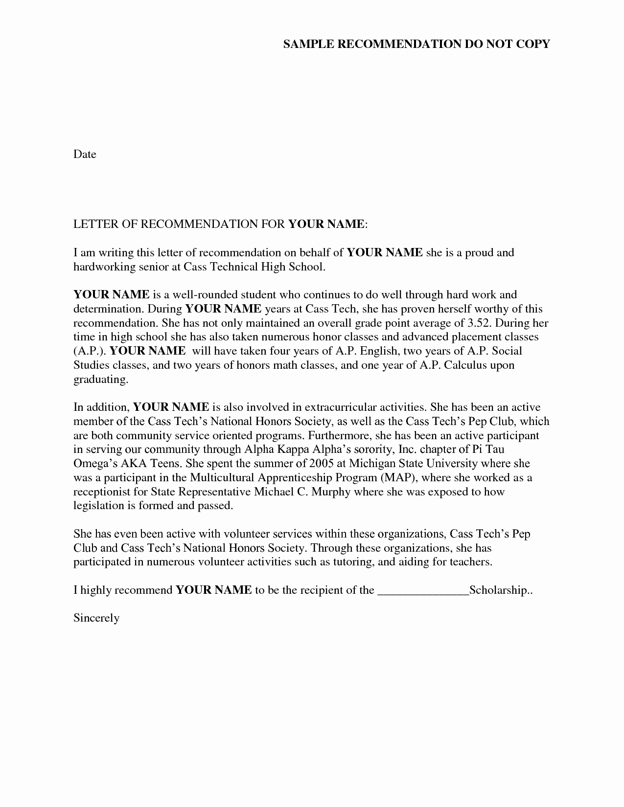 Letter Of Recommendation Letter Template Unique Reference Letter Of Re Mendation Sample