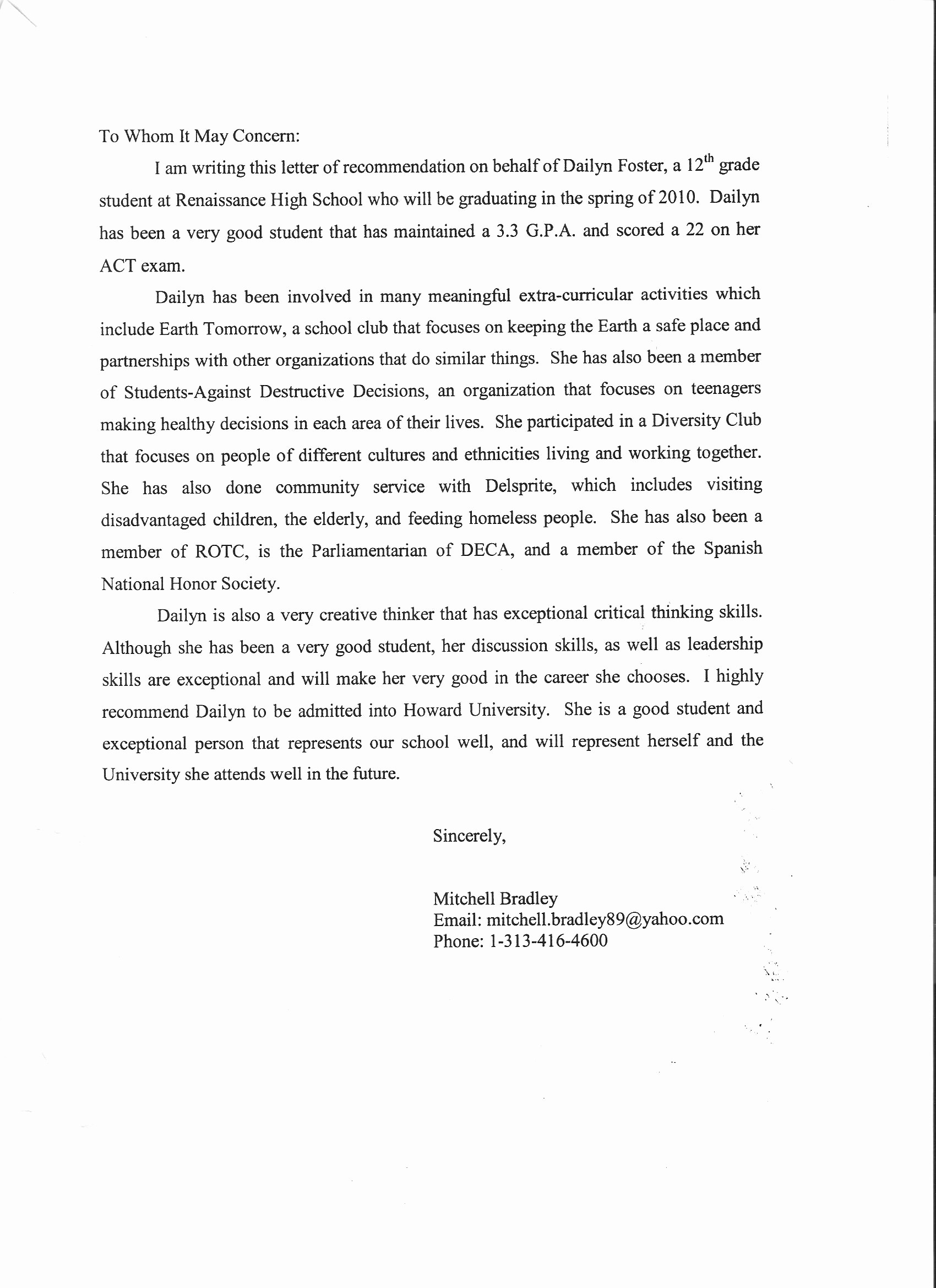 Letter Of Recommendation Sample Template Best Of Sample Teacher Re Mendation Letter