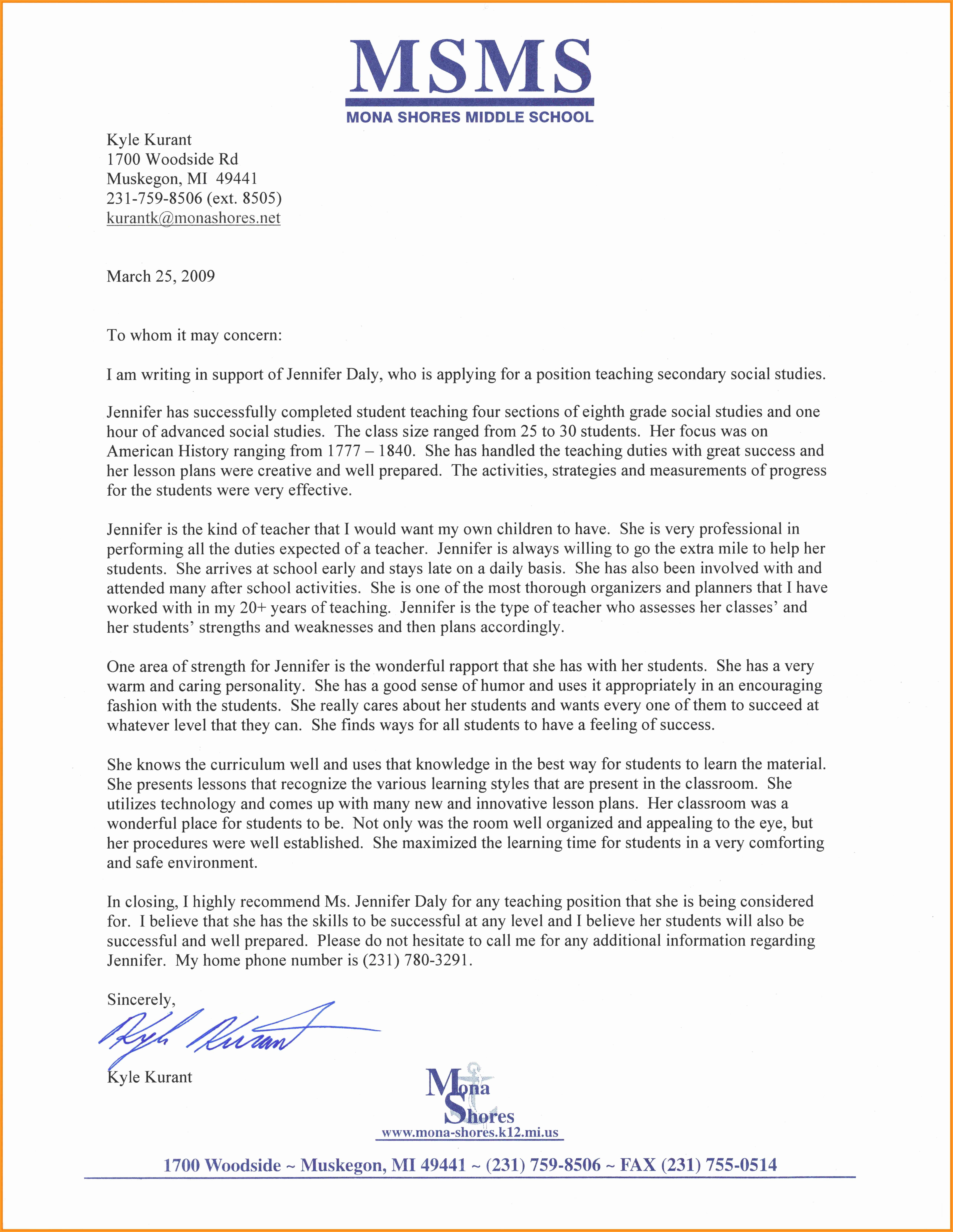 Letter Of Recommendation Template Student New 3 4 Samples Of Letters Of Re Mendations