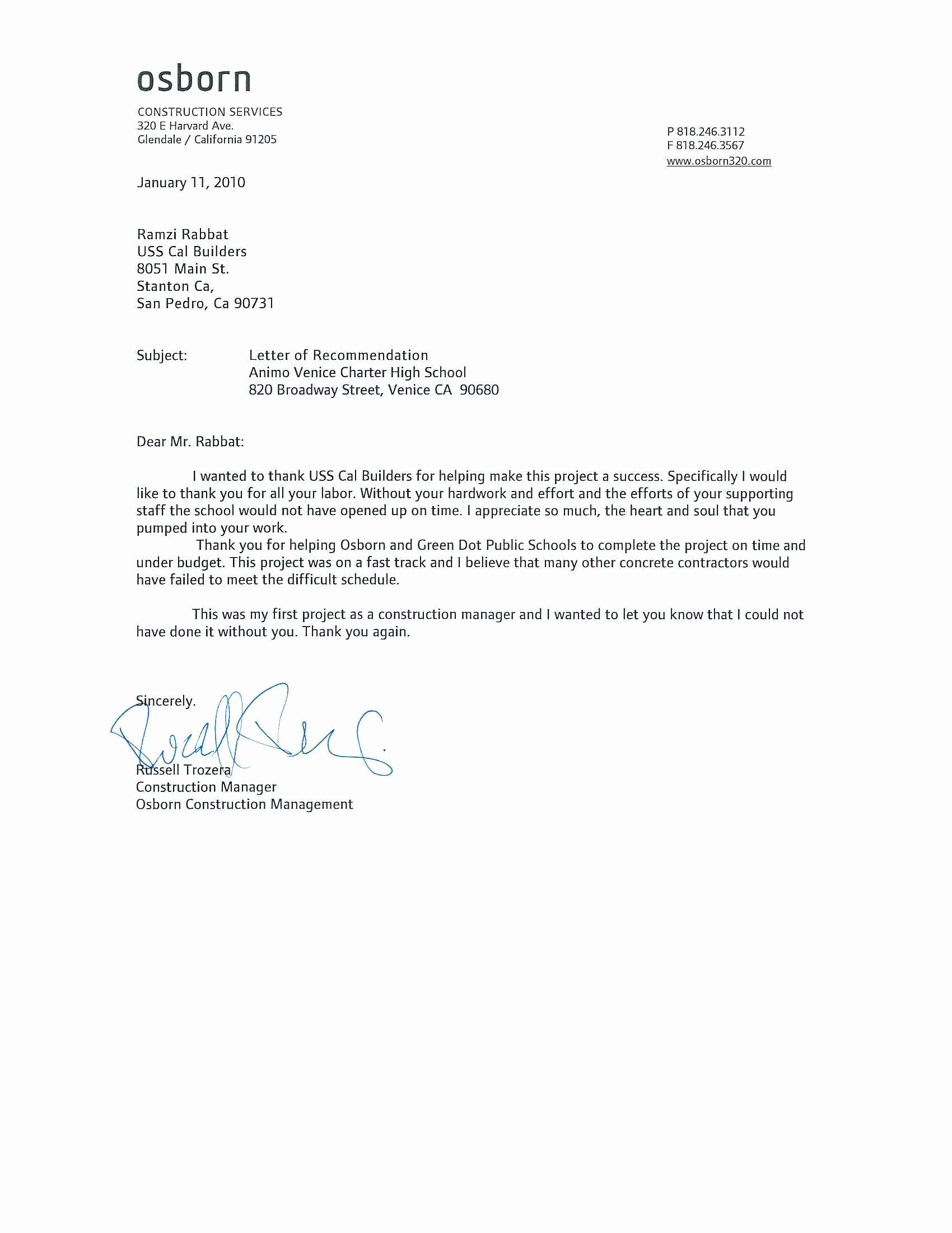 Letter Of Recommendation with Letterhead Awesome Tips for Writing A Letter Of Re Mendation