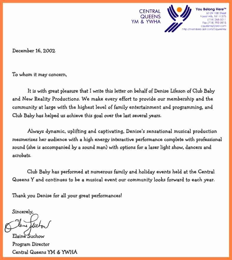Letter Of Recommendation with Letterhead Best Of 7 Letter Of Re Mendation Letterhead