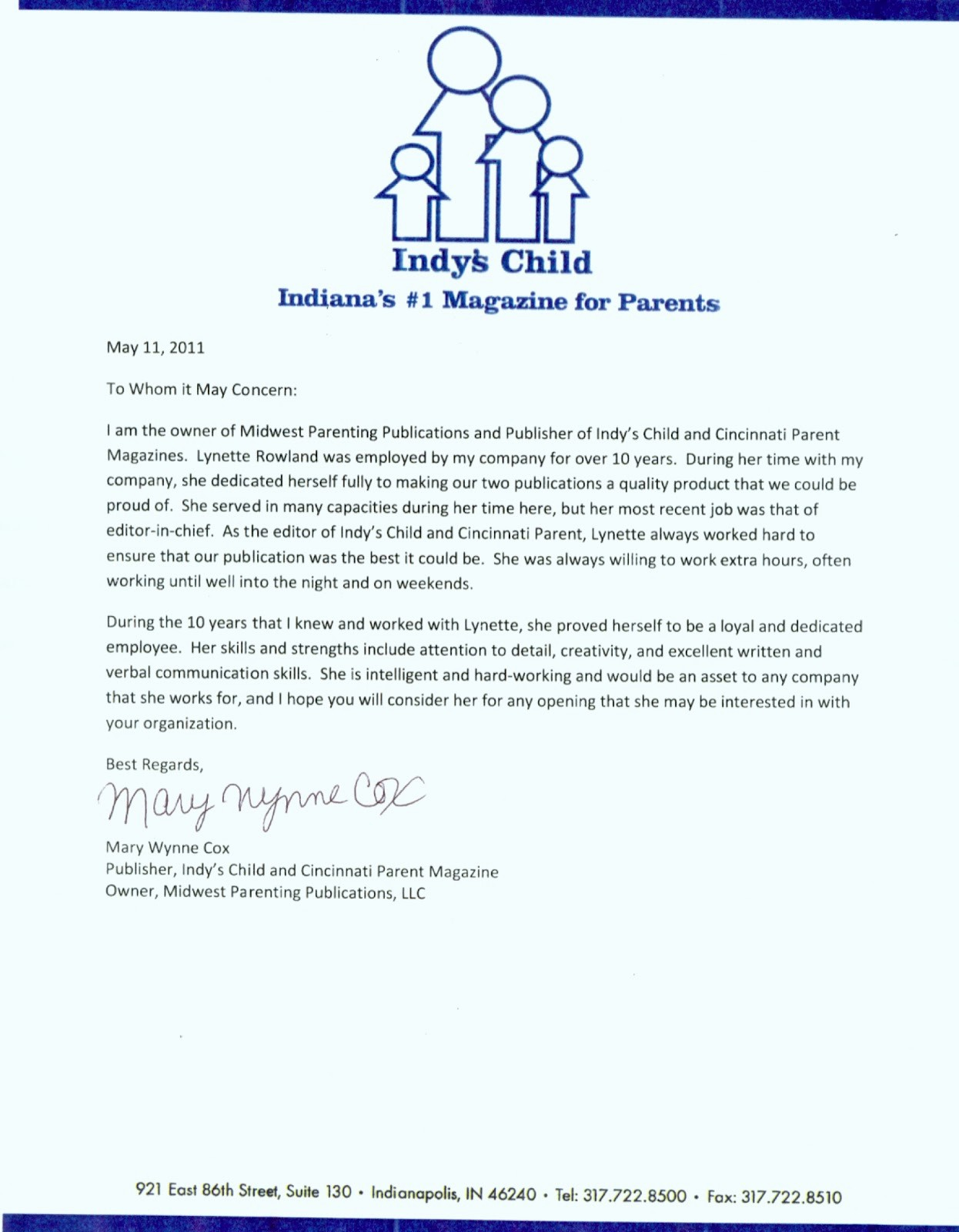 Letter Of Recommendation with Letterhead Best Of Letters Of Re Mendation Lynette Rowland