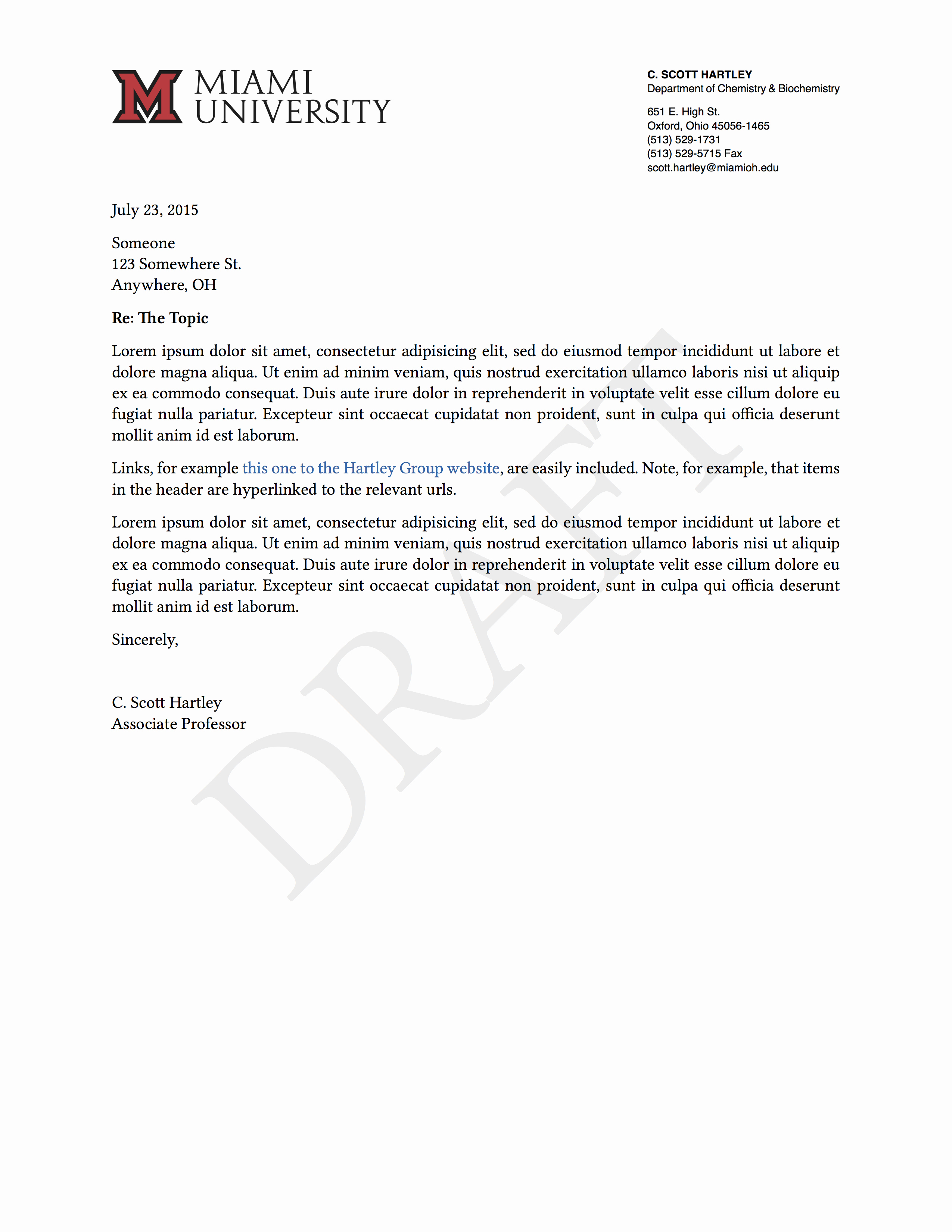 Letter Of Recommendation with Letterhead Elegant A Pandoc Template for Letterhead