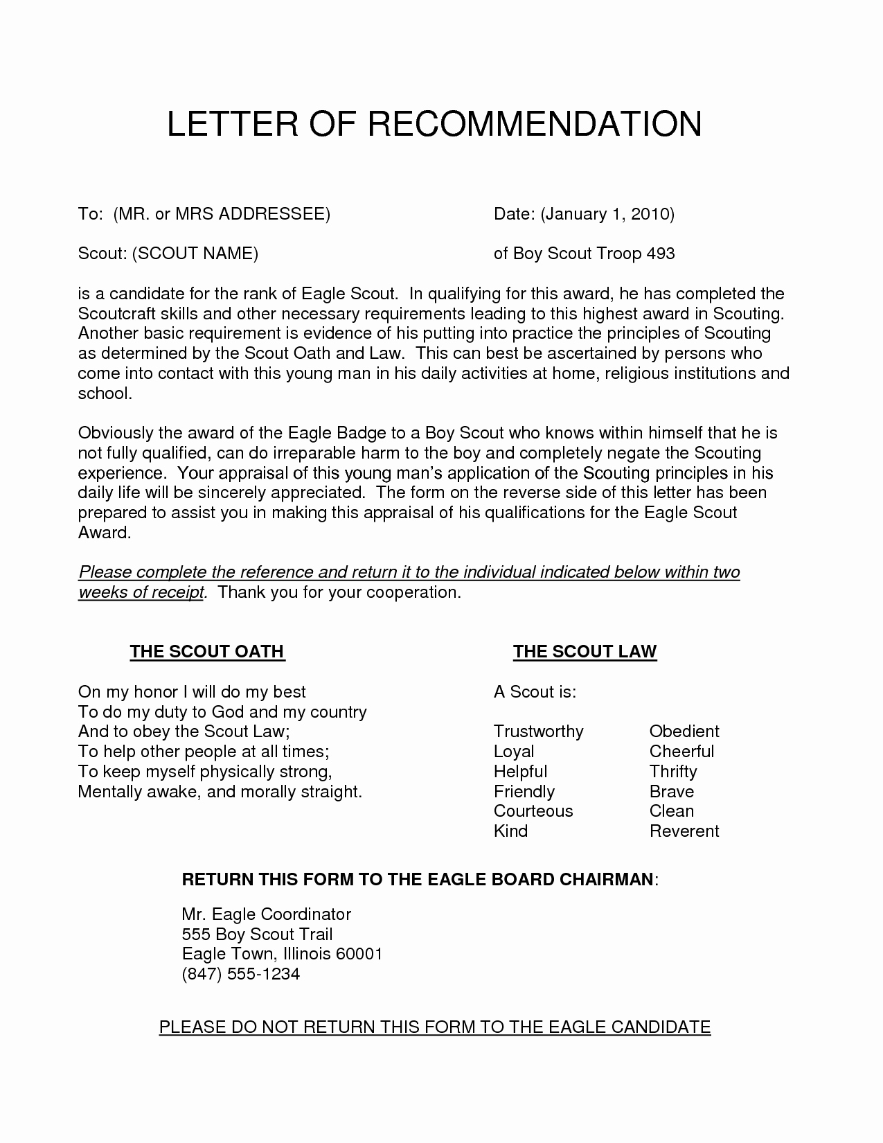 Letter Of Recommendation with Letterhead Luxury Content 2016 10 Eagle Scout