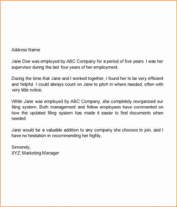 Letter Of Recommendation Word Template Best Of 3 Letter Of Re Mendation Template Word