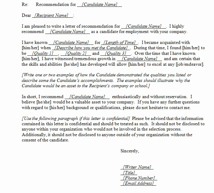 Letter Of Recommendation Word Template Best Of Best S Of Letter Re Mendation Template Word