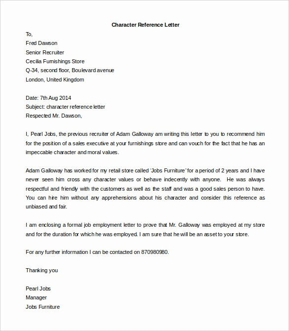 Letter Of Recommendation Word Template Unique Free Reference Letter Templates 24 Free Word Pdf