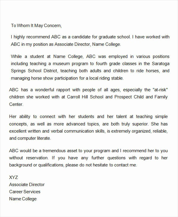 Letter Of Reference for Coworker Luxury Coworker Re Mendation Letter 10 Free Word Pdf