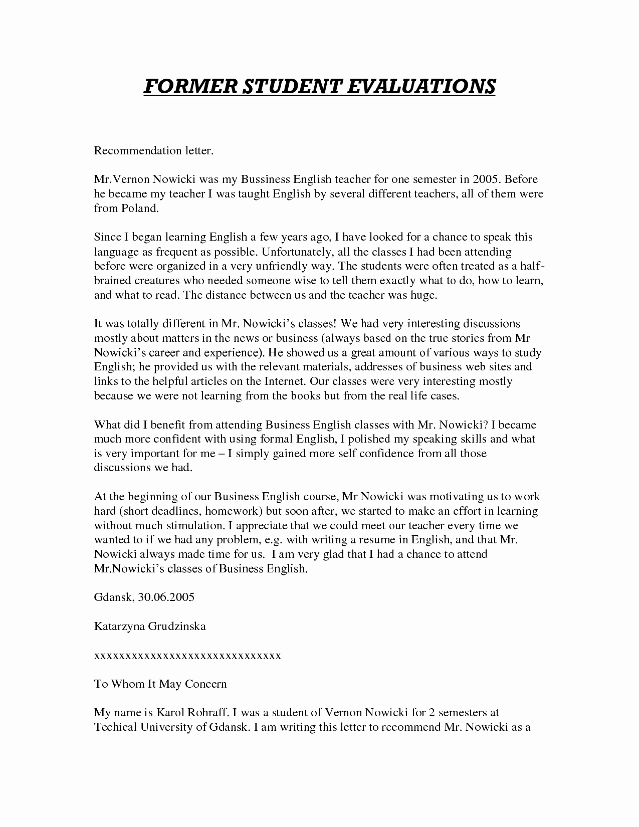 Letter Of Reference for Teachers Lovely Sample Letter Of Re Mendation for Teacher