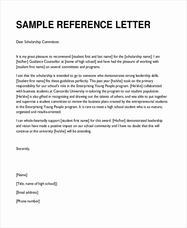 Letter Of Reference for Teachers Luxury Sample Teacher Re Mendation Letter 8 Free Documents