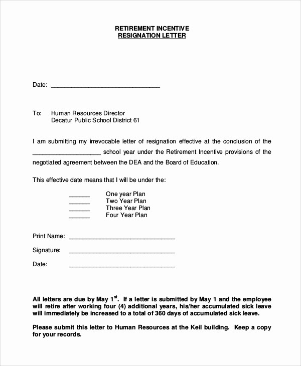 Letter Of Resignation Retirement Example Awesome 8 Resignation Letter Examples
