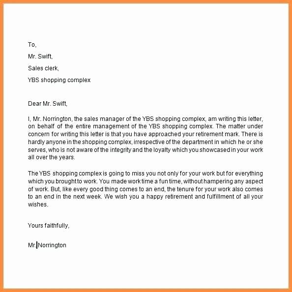 Letter Of Resignation Retirement Example Best Of Awesome Collection Retirement Letter Examples