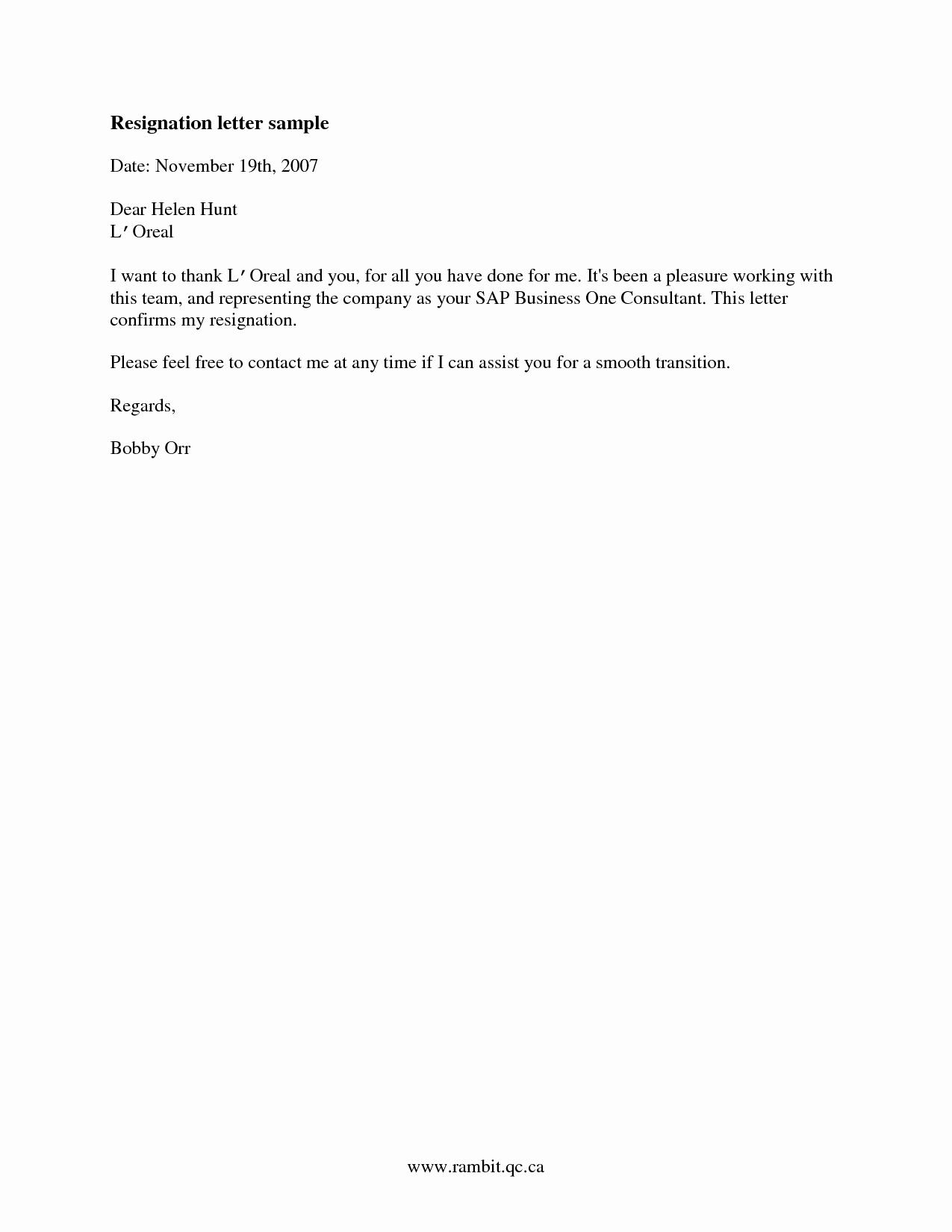 Letter Of Resignation Retirement Example Elegant Sample Of Good Resignation Letter Samplebusinessresume
