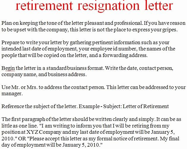 Letter Of Resignation Retirement Example Elegant Sample For Teacher