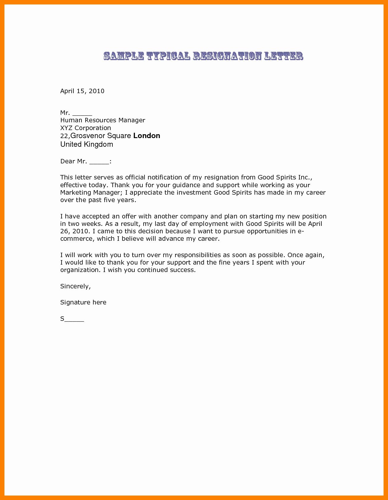 Letter Of Resignation Retirement Example Lovely Best Resignation Letter Ever