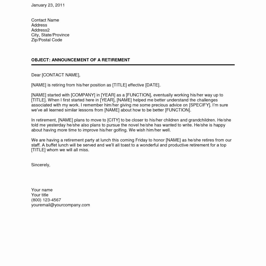 Letter Of Resignation Retirement Example New Proper Teacher Retirement Letter Samples – Letter format