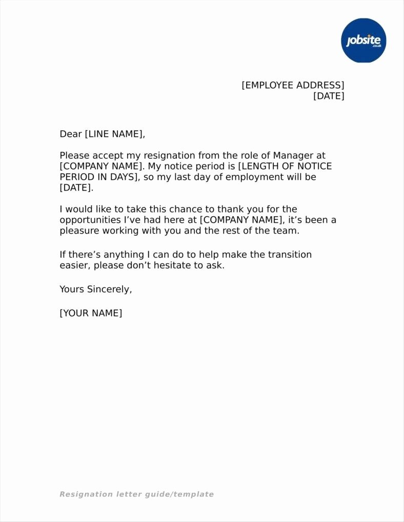 Letter Of Resignation Template Download Awesome 33 Simple Resign Letter Templates Free Word Pdf Excel