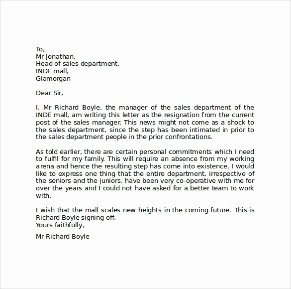 Letter Of Resignation Template Download Elegant 10 Resignation Letter format Templates to Download