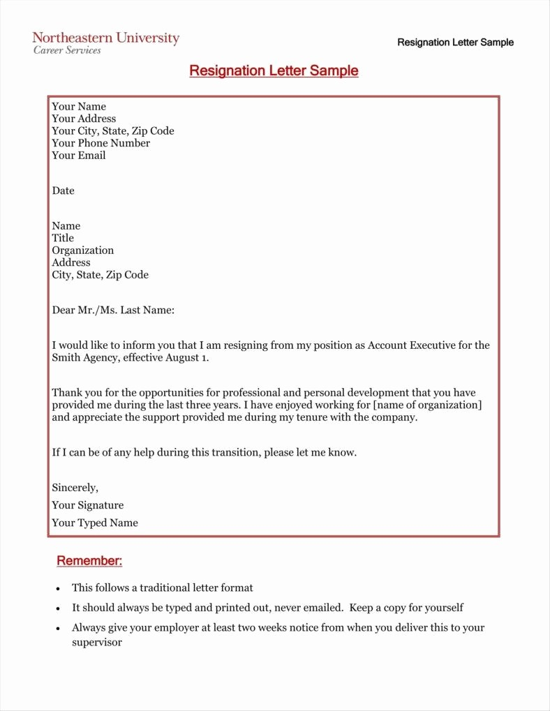 Letter Of Resignation Template Download Unique 33 Simple Resign Letter Templates Free Word Pdf Excel